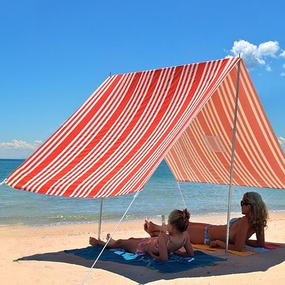 SOMBRILLA  BEACH SHADE-RED STRIPE
