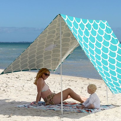 SOMBRILLA  BEACH SHADE - AQUA SHELLS